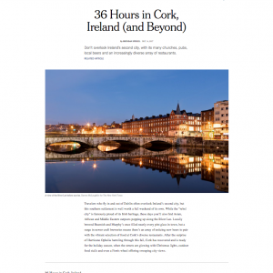 "Elbow Lane in New York Times ""36 hours in Cork"" column"