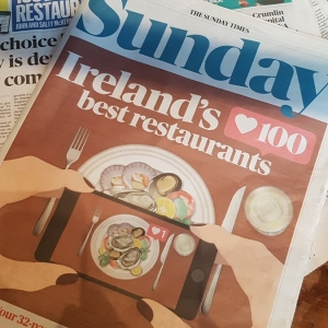 One of Sunday Times' Ireland's 100 best restaurants 2019